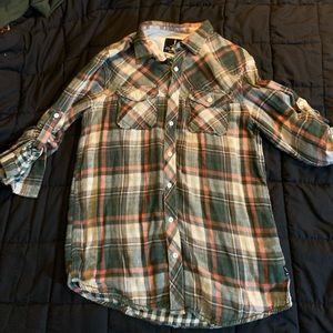 Vintage style green flannel, brand new never worn